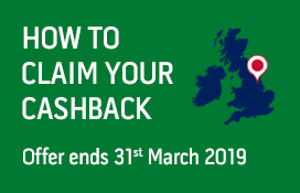 How to claim your cashback offer ends 31st March 2019.
